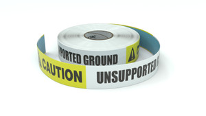 Caution: Unsupported Ground - Inline Printed Floor Marking Tape