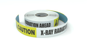 Caution: X-Ray Radiation Ahead - Inline Printed Floor Marking Tape