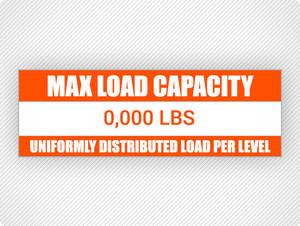 Custom Max Load Capacity Labels (25 pack)