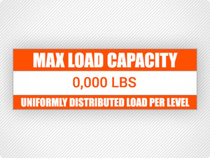 Custom Max Load Capacity Labels (25 pack)