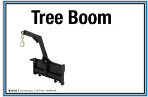 """Wall Sign: (UR) Tree Boom - 12""""x18"""" (Peel-and-Stick Permanent Adhesive)"""