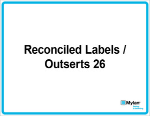 """Wall Sign: (Mylan Logo) Reconciled Labels / Outsert 26 11""""x14"""" (Mounted on 3mm PVC)"""
