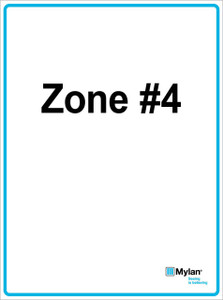 """Wall Sign: (Mylan Logo) Zone #4 15""""x20"""" (Mounted on 3mm PVC) Double Sided"""
