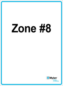 """Wall Sign: (Mylan Logo) Zone #8 15""""x20"""" (Mounted on 3mm PVC) Double Sided"""