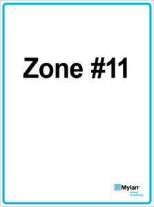 """Wall Sign: (Mylan Logo) Zone #11 15""""x20"""" (Mounted on 3mm PVC) Double Sided"""