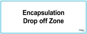 "Wall Sign: (Mylan Logo) Encapsulation Drop Off Zone 16""x40"" (Mounted on 3mm PVC)"
