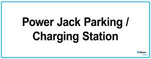 "Wall Sign: (Mylan Logo) Power Jack Parking/Charging Station 16""x40"" (Mounted on 3mm PVC)"