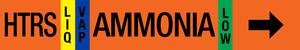Ammonia Pipe Marking Label - High Temperature Recirculated Suction