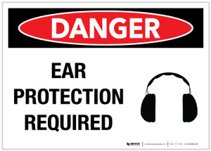 Danger: Ear Protection Required - Label