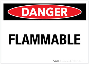 Danger: Flammable Landscape - Label