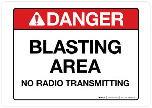Danger - Blasting Area - Wall Sign