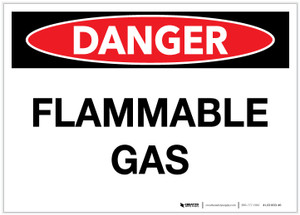 Danger: Flammable Gas - Label