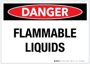 Danger: Flammable Liquids - Label