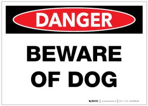 Danger: Beware of Dog - Label
