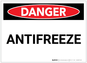 Danger: Antifreeze - Label