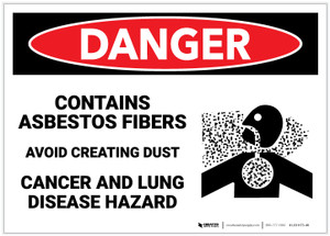 Danger: Asbestos Fibers Avoid Creating Dust - Label