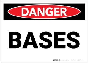 Danger: Bases - Label