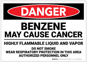 Danger: Benzene May Cause Cancer - Label