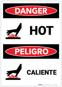Danger: Bilingual Hot - Label