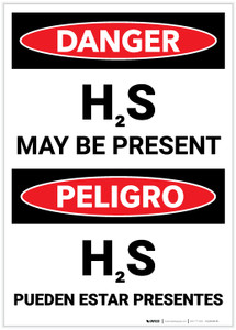 Danger: Bilingual Hydrogen Sulfide May Be Present - Label