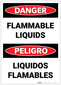 Danger: Bilingual Flammable Liquids - Label