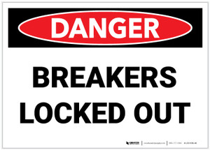 Danger: Breakers Locked Out - Label
