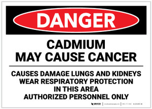 Danger: Cadmium May Cause Cancer - Label