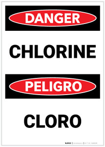 Danger: Chlorine Bilingual - Label
