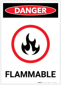 Danger: Flammable Portrait with Graphic - Label