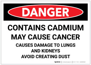 Danger: Contains Cadmium - Label
