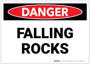 Danger: Falling Rocks Landscape - Label