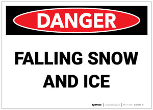 Danger: Falling Snow and Ice - Label