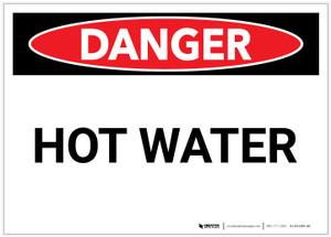 Danger: Hot Water - Label