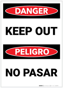 Danger: Keep Out Bilingual - Label