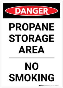 Danger: Propane Storage Area/No Smoking - Label