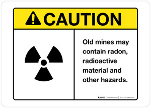Caution - Old Mine Hazards - Wall Sign