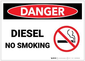 Danger: Diesel No Smoking - Label