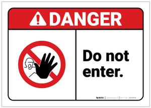 Danger: Do Not Enter ANSI - Label