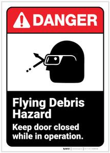 Danger: Flying Debris Hazard ANSI - Label