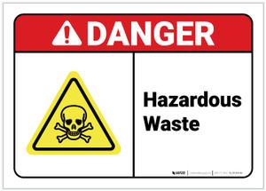Danger: Hazardous Waste ANSI - Label