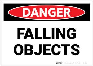 Danger: Falling Objects - Label