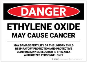 Danger: Ethylene Oxide May Cause Cancer - Label