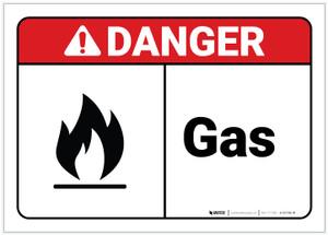Danger: Gas ANSI - Label