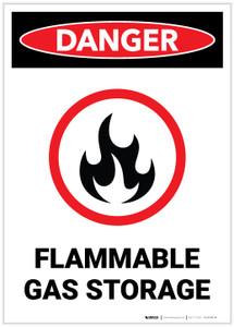 Danger: Flammale Gas Storage - Label