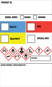 GHS - Secondary Container Labels