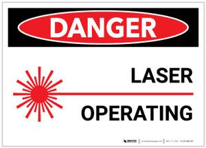 Danger: Laser Operating - Label