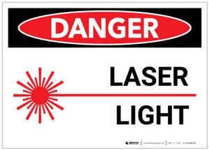 Danger: Laser Light - Label