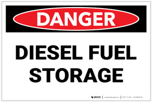 Danger: Diesel Fuel Storage - Labels