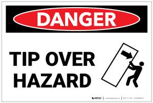 Danger: Tip Over Hazard - Label