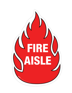 Fire Aisle Floor Sign